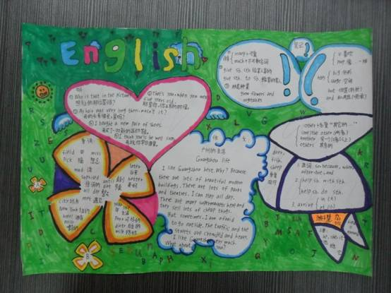 黄冈小学英语月活动(一):举办字母卡设计61英语书法61手抄报比赛