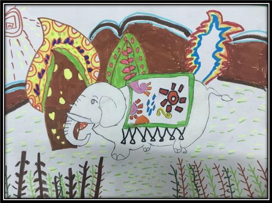 黄冈小学儿童画兴趣班孩子的作品