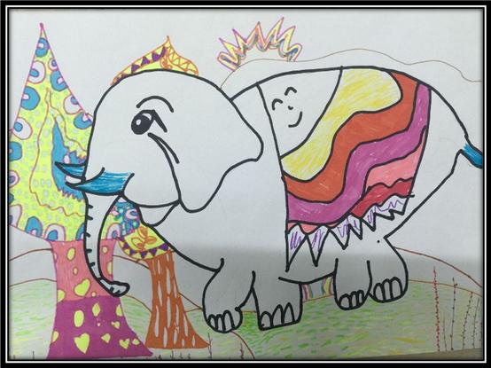 儿童作品广州塔的画