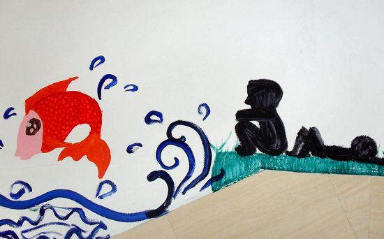 """【艺术节专题】""""宿舍楼梯文化墙""""绘画活动"""