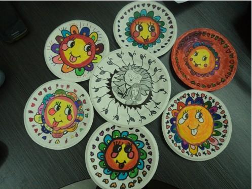 纸光盘创意手绘画图片