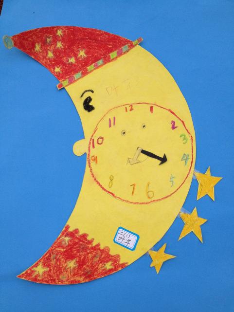 小学数学月活动(二):举行二年级钟面设计手工制作图片
